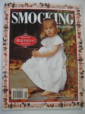 No.29 Australian Smocking & Embroidery Country Bumpkin Special Birthday Edition