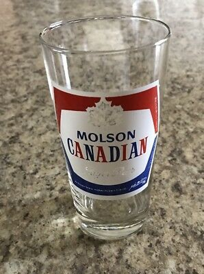 Molson Canadian Vintage Collectable 12 Fluid Oz Glass