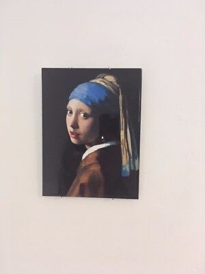 girl with the pearl earing, decrotive tile with wall mount