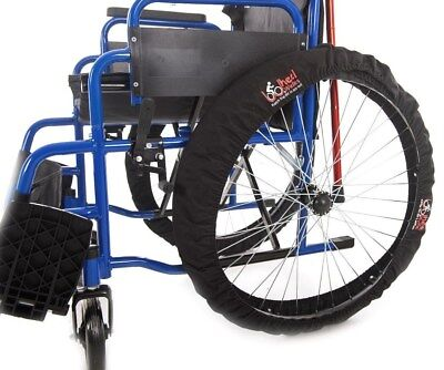 Wheelchair wheel covers universal fits all size wheels. Keeps dirt out