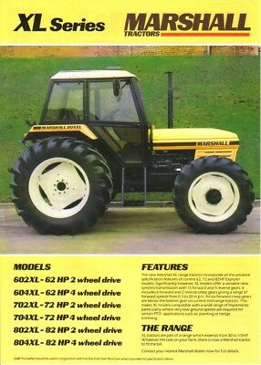 Marshall XL Series Tractor Brochure. Immaculate Condition. Rare Vintage Piece.