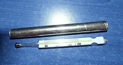 Vintage - Thermometer by ALLIED LAB Ltd GERMAN Made METAL Tube - EX CON