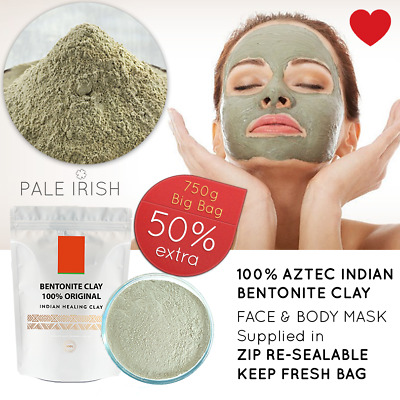 Wyoming Indian Healing Aztec Bentonite Clay - 2lb | Deep Cleansing Facial & Body