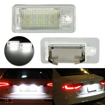 Canbus LED License Number Plate Light For Audi A6 S6 A4 S4 B6 B7 A8 S8 A3 Q7 A5