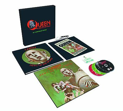 "QUEEN News Of The World 40th Anniversary Super Deluxe Ed - 12"" Vinyl + 3CD + DVD"
