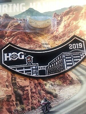 New 2019 Hog (Harley Owners Group) Patch And Pin