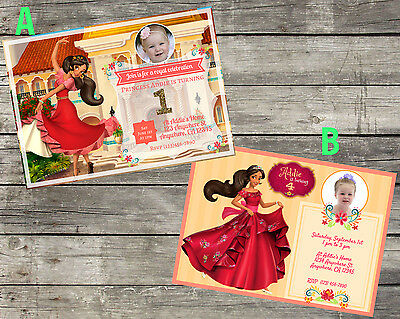 Personalized Disneys Princess Elena Birthday Invitation Digital File 5X7