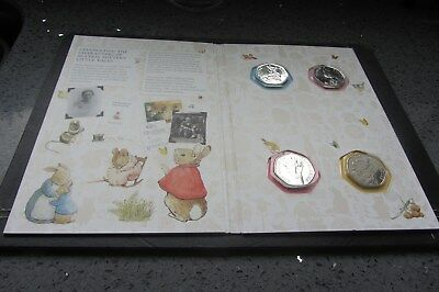 2018 BEATRIX.POTTER 50p COINS X 4 (FULL SET) inc 2018 Royal Mint ALBUM        M7