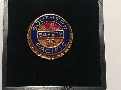 Gold Filled 30 Yr Southern Pacific Railroad Employee Safety Award Pin Mib