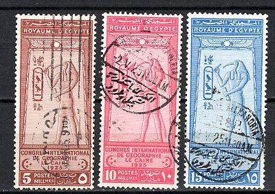 Egypt 1925 Geographical Congress Full Sets Of Used Stamps