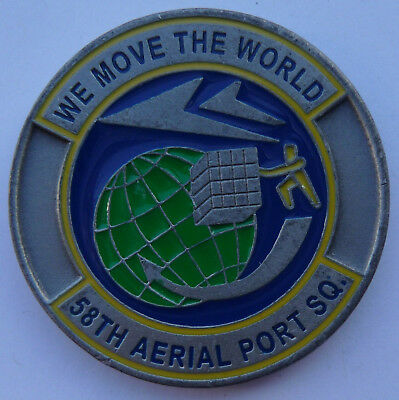 US Army Armee Militär Medaille Münze Challenge Coin 58th Aerial Port Squadron