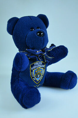 City Bears NYPD City New York Police Department Blue Plush/ Beanie Bear NYC- EUC