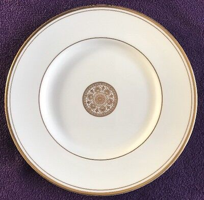 "ROYAL DOULTON Fine China ""Oxford Gold"" 8"" SIDE PLATE White & Gold"