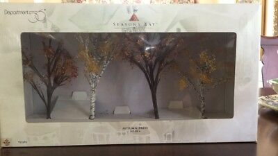Retired Department 56 Seasons Bay Autumn Trees Set of 4