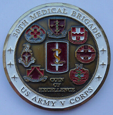 US Army Armee Militär Medaille Münze Challenge Coin 30th Medical Brigade Sembach