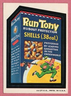 1973 Topps Wacky Packages Run Tony (2nd series) slight age marks on white back