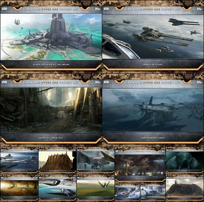 Topps Star Wars Card Trader Rogue One Concept Art Wave 3 [15 CARD SET]