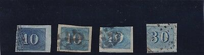 0061  Brazil 1854 Mi.19 Nice lot mixed quality ( nice cancellations see scan)