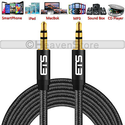 3.5mm Jack Male to Male Plug Aux Cable Audio Lead To Headphone/MP3/iPod/Car New
