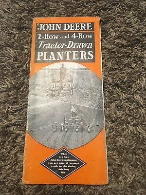 John Deere 2-Row And 4-Row Tractor Drawn Planters Advertising Brochure Pamphlet