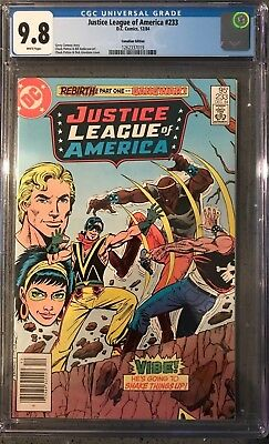 Justice League of America #233 CGC 9.8 ~CANADIAN VARIANT~ KEY ISSUE!L@@K!