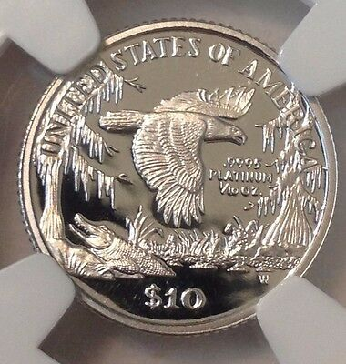 1999-W $10 Platinum Eagle 1/10 Oz.NGC PR69UCAM $10: High Reflection Surfaces