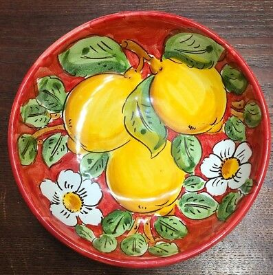 Vietri Pottery-7inch bowl lemon.Made/Painted by hand in Italy