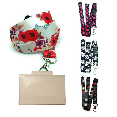 Lanyard Neck Strap + with id Badge holder with metal clip breakaway