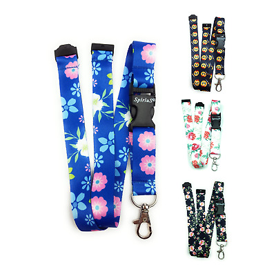 SpiriuS Lanyard Neck strap for ID card badge Holder with safety Breakaway clip