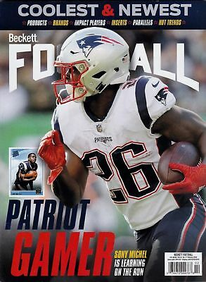 Beckett Football Monthly Price Guide February 2019 Sony Michel Cover