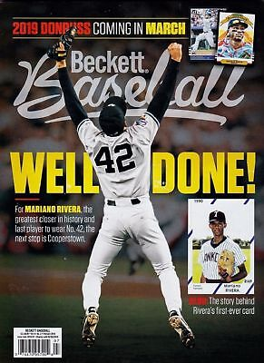 Beckett Baseball Monthly Price Guide February 2019 Mariano Rivera Cover