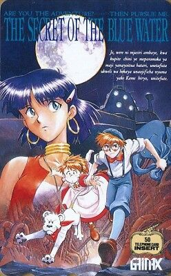 "Japan Anime phone card. Télécarte Manga du Japon.  ""NADIA & LE SECRET DE L'EAU""."