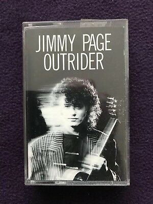 """Vintage music CASSETTE TAPE - JIMMY PAGE (Led Zeppelin) """"Outrider"""""""