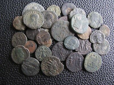 30 Genuine Ancient Roman Bronze Coins,Unresearched,Some Interesting Coins