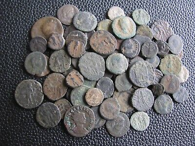 60 Genuine Ancient Roman Bronze Coins,Unresearched,Some Interesting Coins