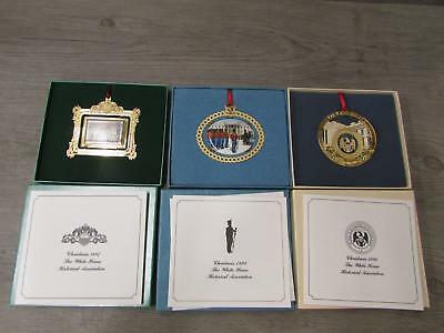 Lot of 3 White House Historical Association Christmas Ornaments 1994 96 97