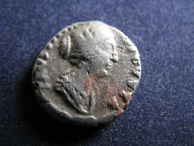 Genuine Ancient Roman Silver Denarius Coin,Faustina The Younger,Some OK Detail