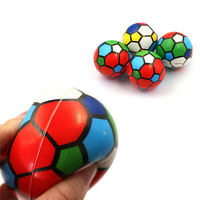 1PC Stress Relief Vent Ball Colorful Mini Football Squeeze Foam Ball Kids Toy KK