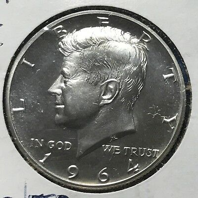 """1964 50C (SILVER PROOF) Kennedy Half Dollar, """"ACCENTED HAIR VARIETY"""" (48281)"""