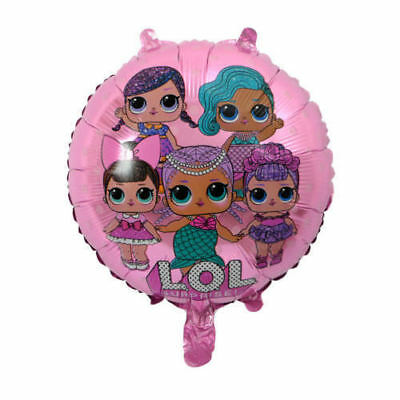 LOL Surprised Doll Foil  Balloons Party Birthday Decorations