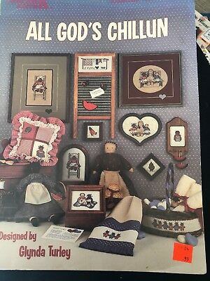Leisure Arts Craft Leaflet Counted Cross Stitch Chart All Gods Chillun 403