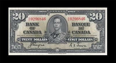 1937 BANK OF CANADA KGVI $20 **Coyne & Towers** (( EF ))