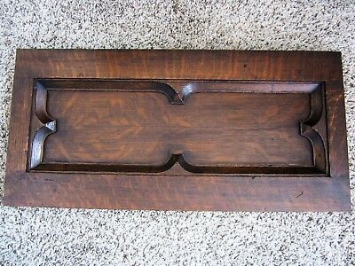 GOTHIC Tiger Oak Architectural Church Salvage Victorian Church Panel Wood Frame