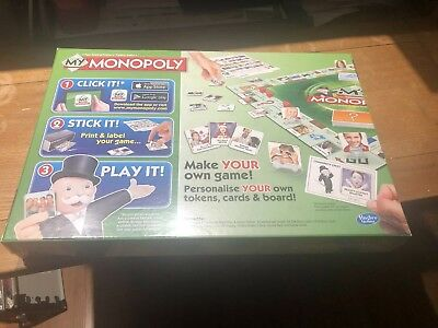 Hasbro Monopoly board game 'MY' Version (Able To Be Personalised) - New Sealed