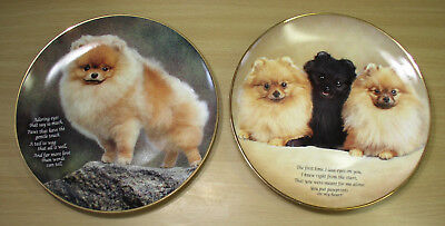 Danbury Mint Pomeranian Dog Collector Plates