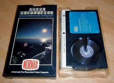 FULLY CARTONED Betamax PRE CERT Video - ALIEN ENCOUNTERS ( Normak ) with Tray