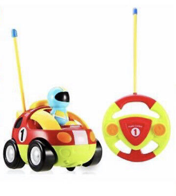 Kids Baby Toddlers Cartoon RC Race Car Remote Control Car Toys Gift