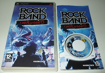 ** ROCK BAND UNPLUGGED ** Sony PSP/Playstation Portable UMD Game ** VGC **