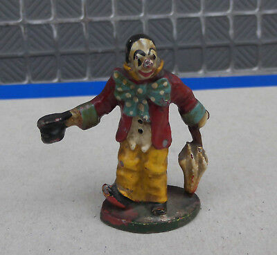 Small Antique cold  painted spelter clown