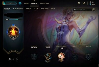 League of Legends Account | LOL | NA | Unranked | 35 CHAMP 12 SKIN